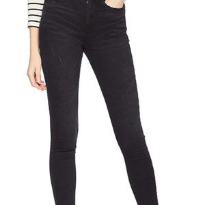 Skinny high waisted black jeans